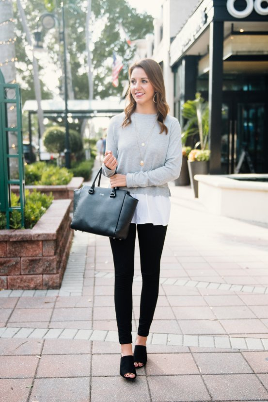 Workwear Wednesday: Layered Sweater by Florida fashion blogger Absolutely Annie