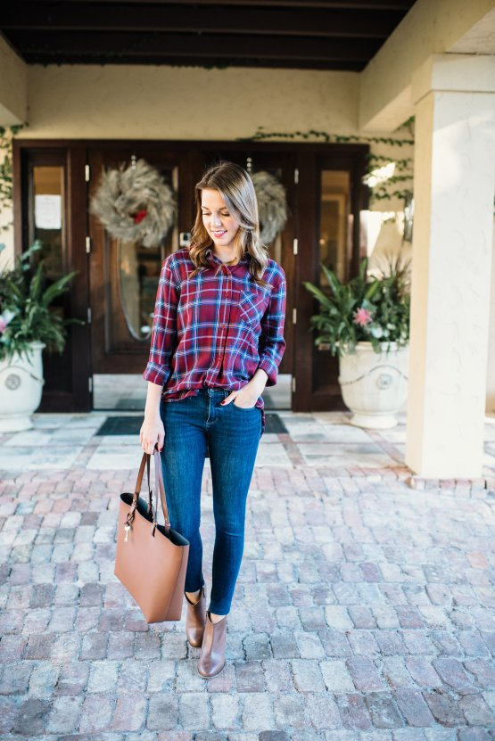 Casual Plaid Tunic by Florida fashion blogger Absolutely Annie
