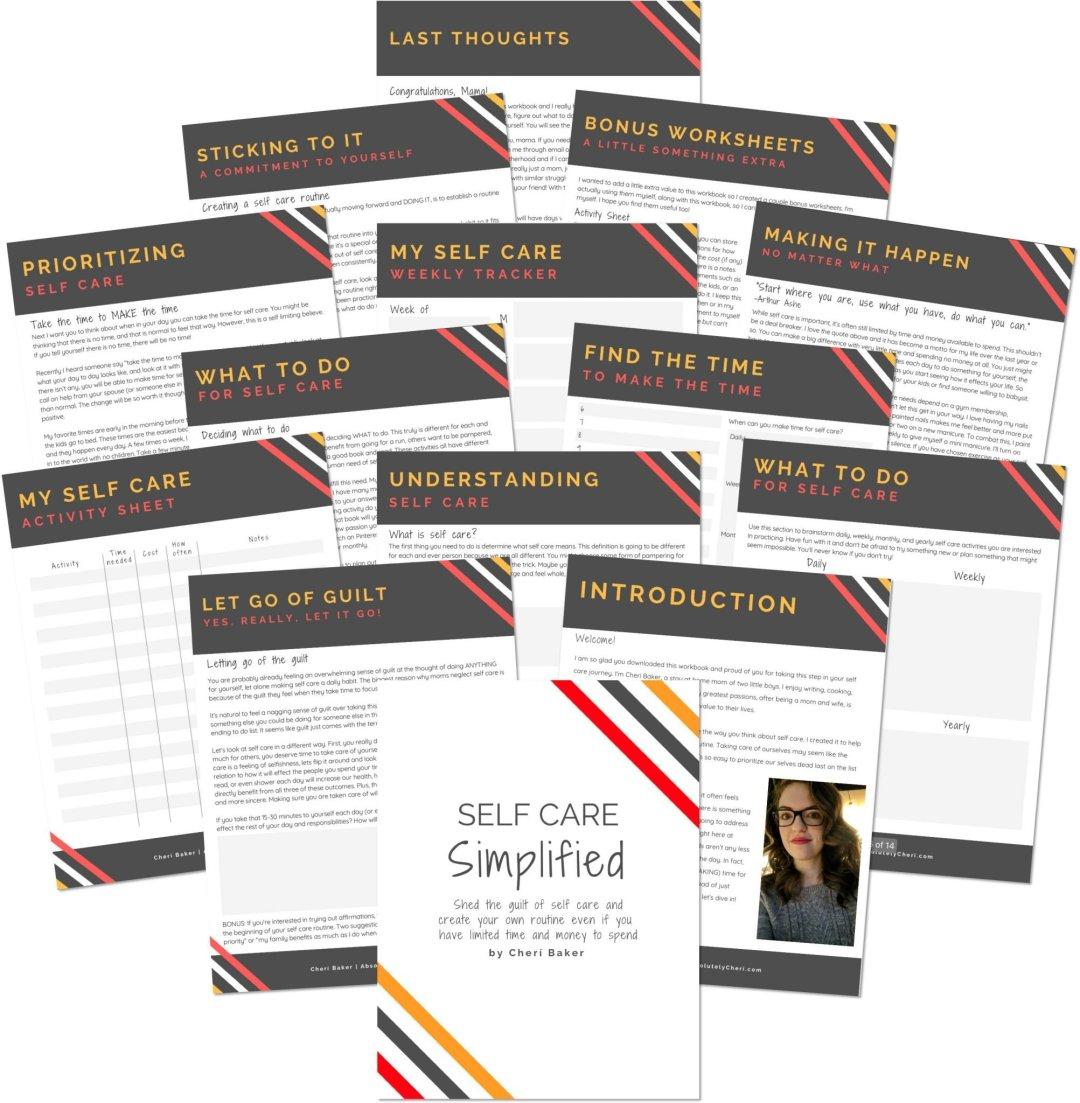Self Care Simplified Workbook Markup