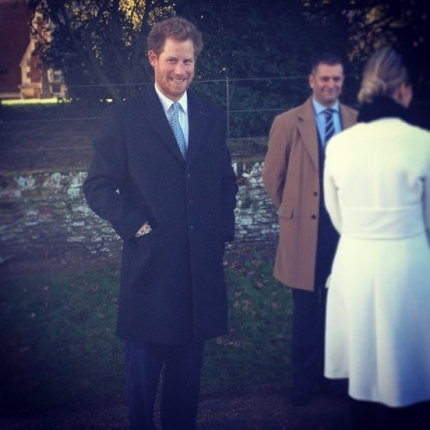 Prince Harry looking hungover and cheeky