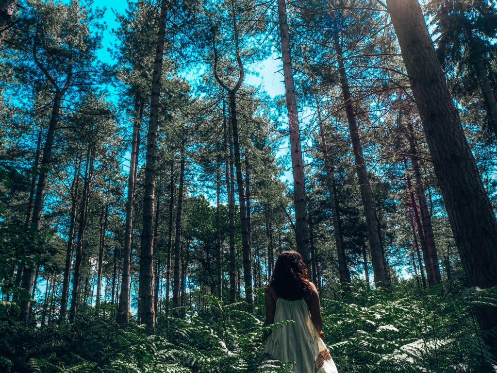 Girl in the woods, fear and facing your fears