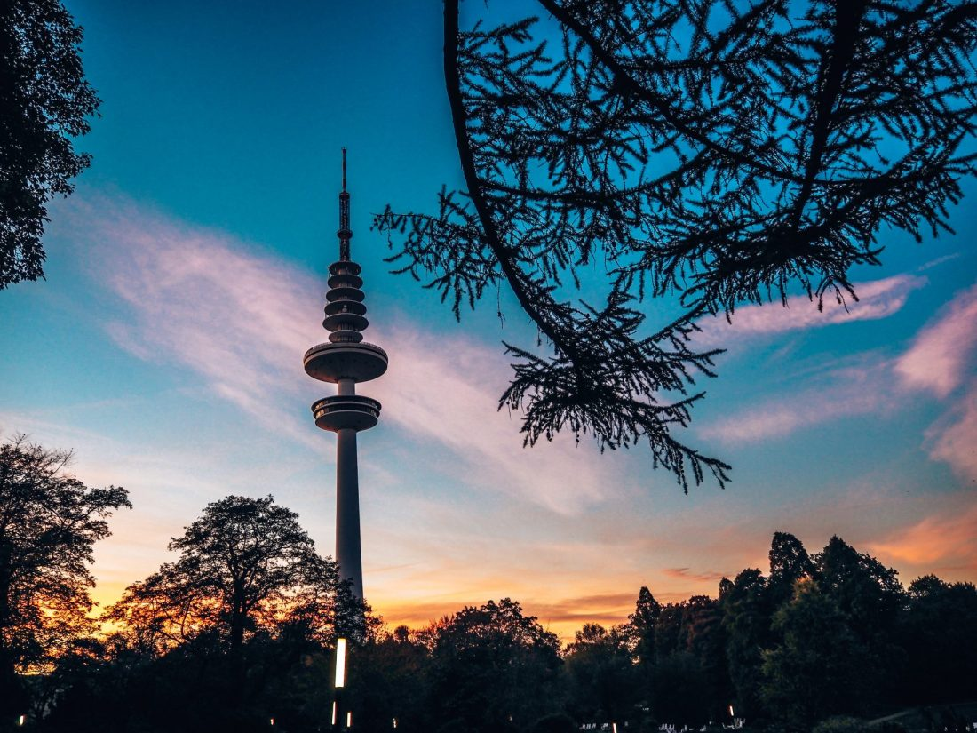 Sunset TV tower
