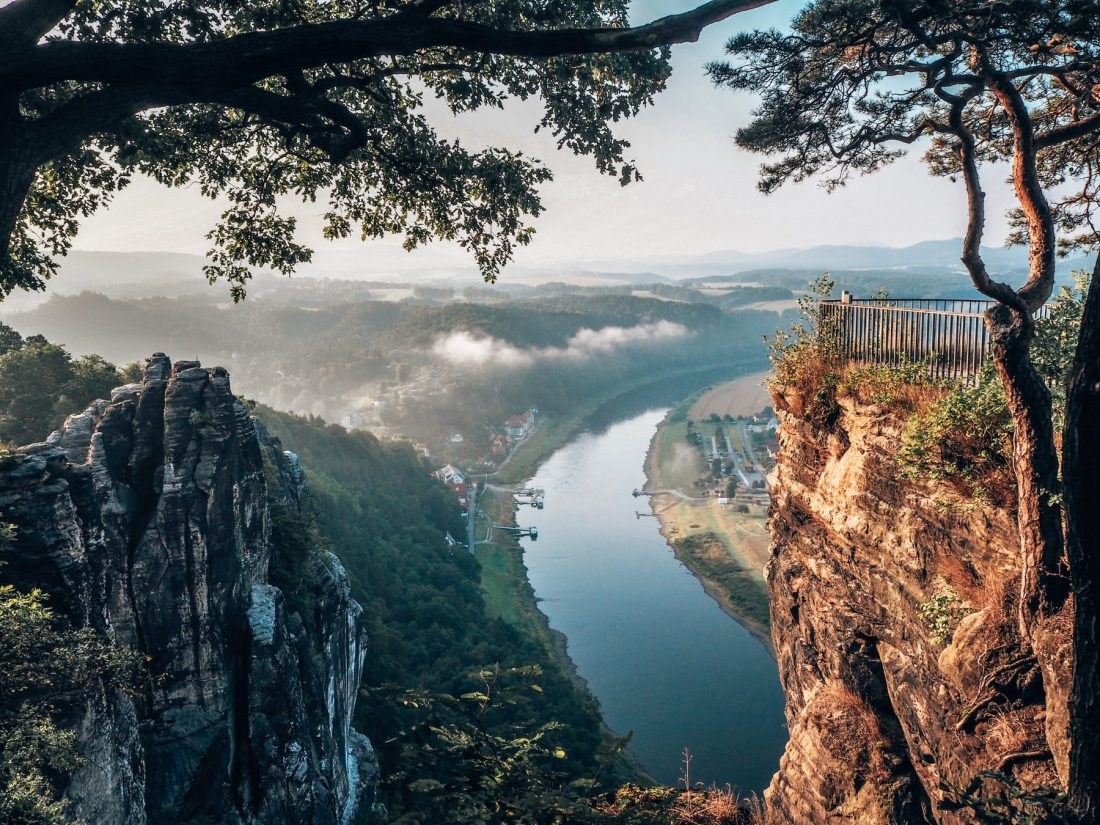 View from Bastei Bridge peak