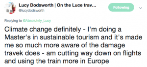 Travel risks comments Lucy