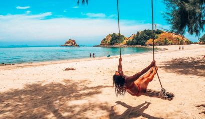 Thailand, beach swing