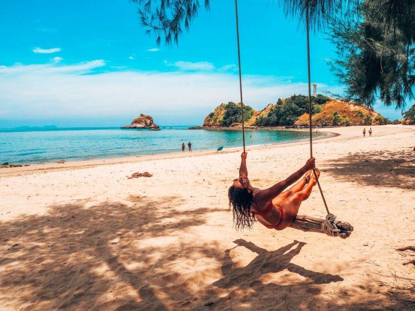 Thailand, beach swing