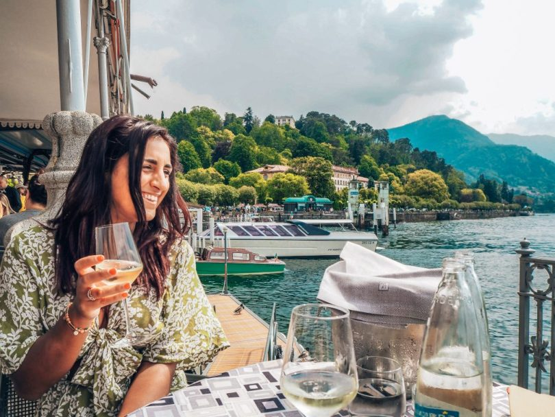 Happy at Lake Como