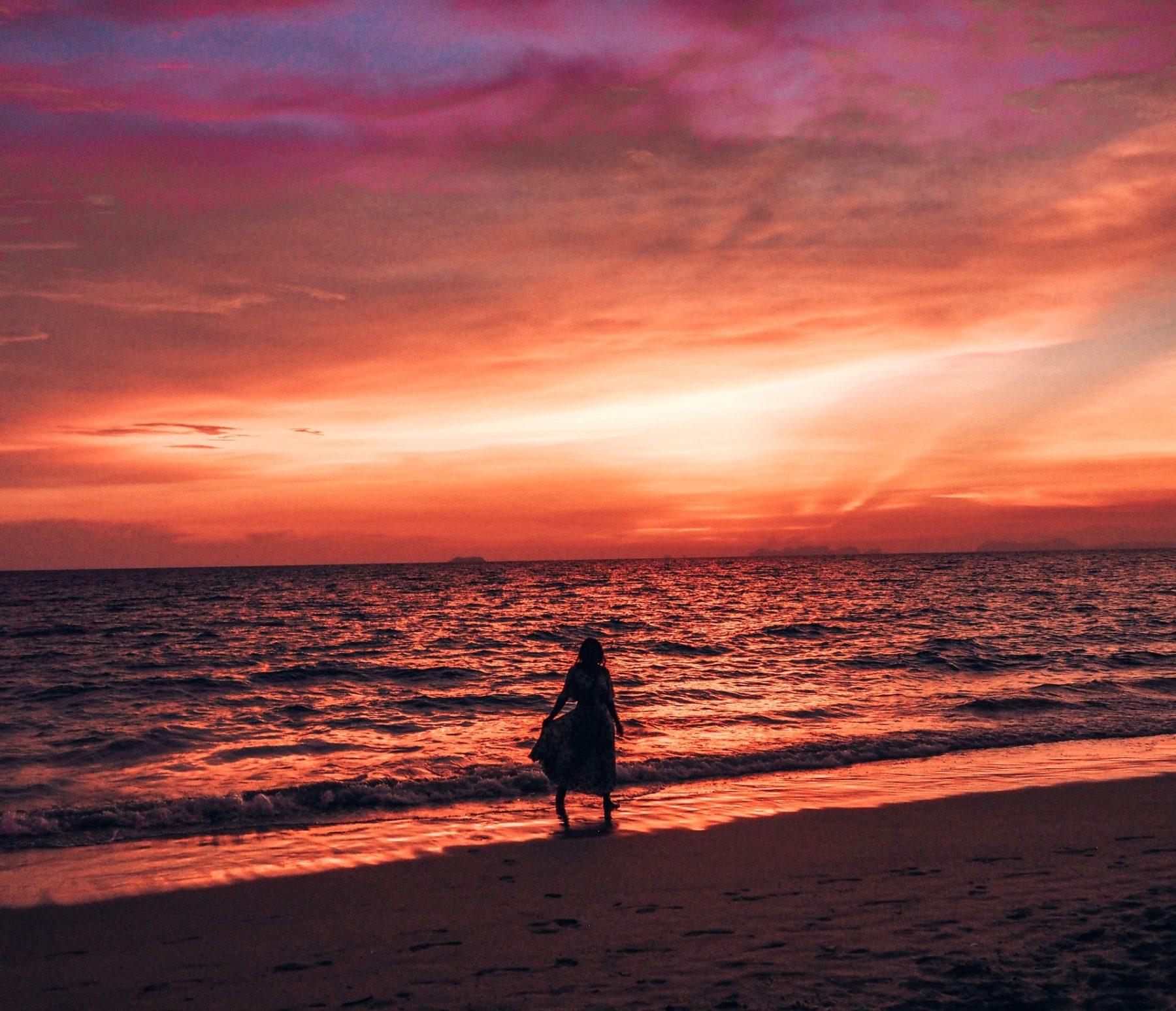 Absolutely Lucy sunset ibiza holidays, Thailand Koh Lanta beach shots 2019