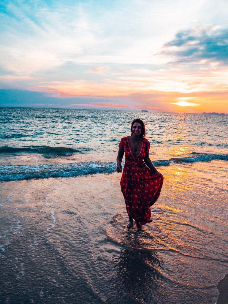 Koh Lanta, Thailand, sunset on the beach