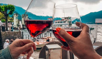 Biirthday present ideas such as wine at Lake Como