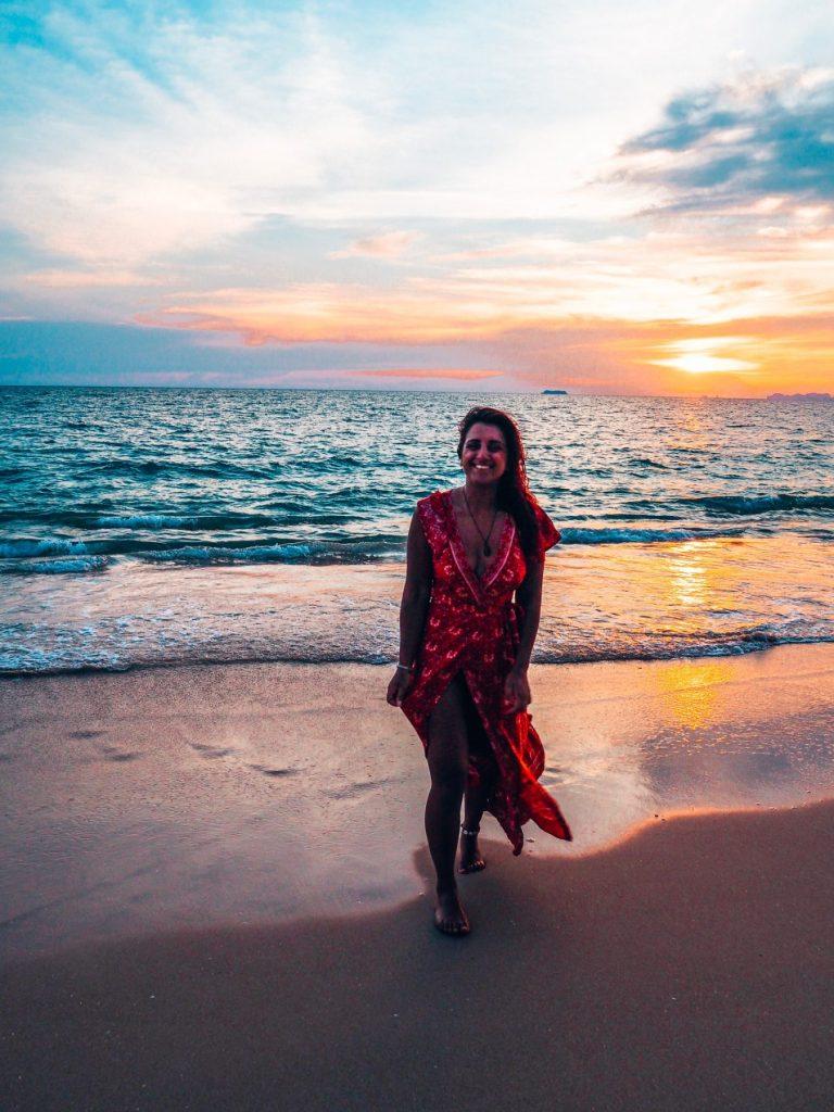 Koh Lanta, Thailand sunset on the beach