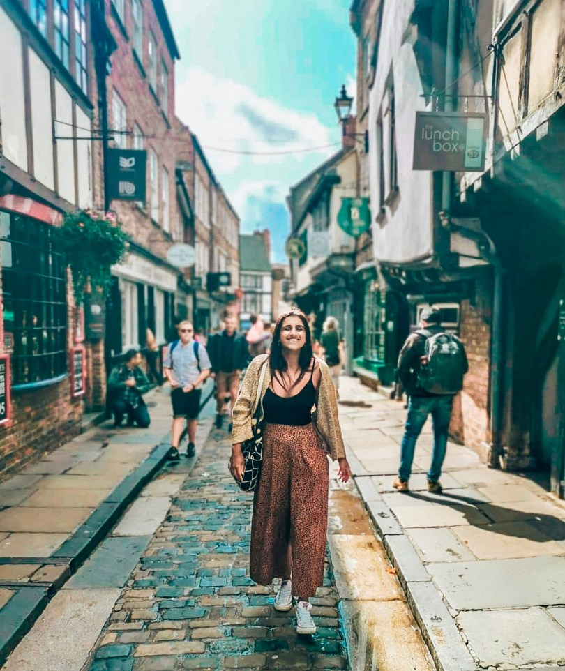 Absolutely Lucy at Shambles, York, during her weekend breaks in York