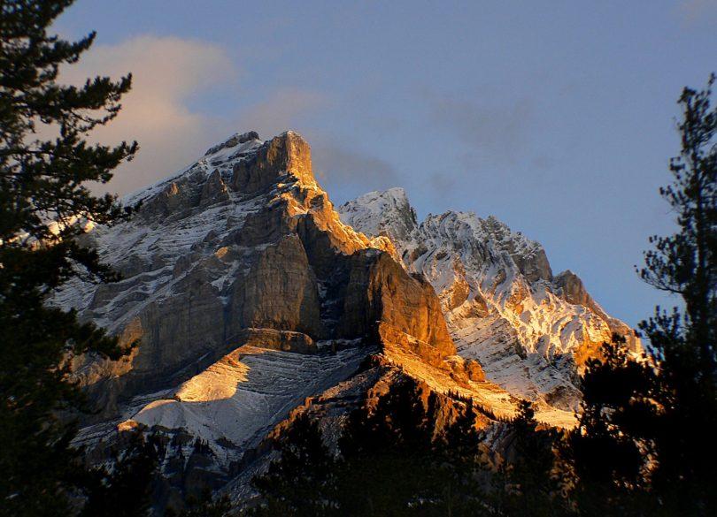 Banff National Park – Mt. Rundle and Mt. Cascade, Rocky Mountains, by Bernard Spragg