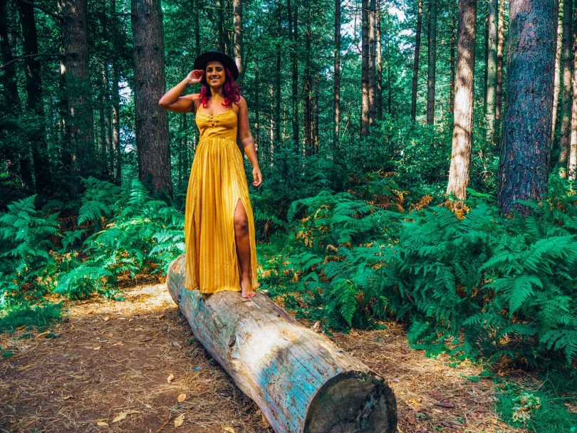 Absolutely Lucy lost in the woods, Sandringham, Norfolk, travel solo Europe post