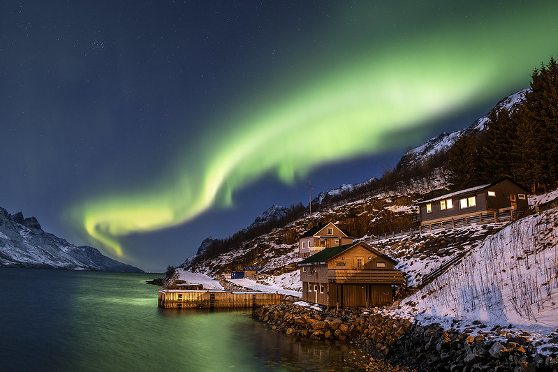 European winter destinations, northern lights norway