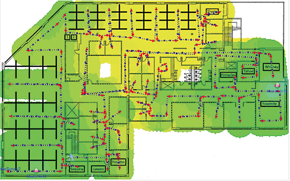 Wireless Survey Report Showing Network Dropout Zones
