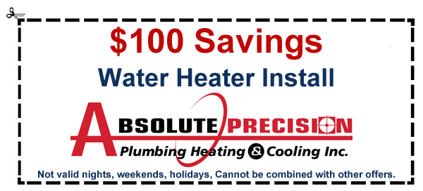 coupon: $100 savings on water heater install
