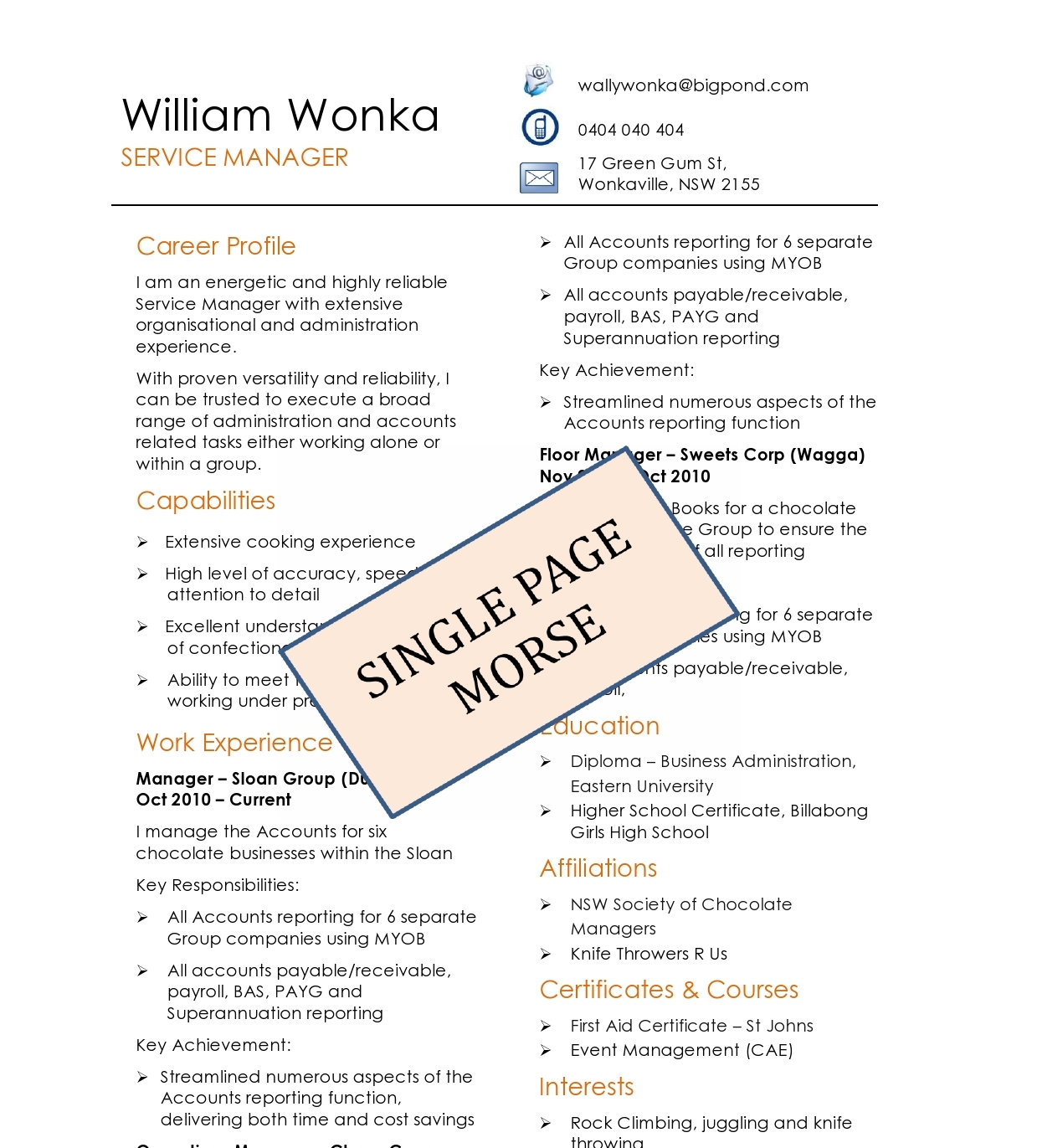 1 page resume anuvrat info 1 page resume sample cover letter how to write a resume