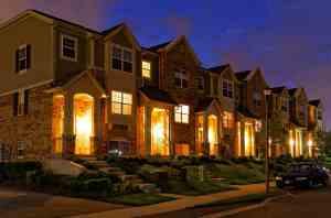 Strata Property at night