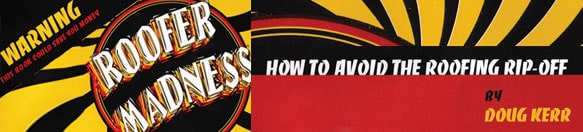 """Roofing Tips Booklet Banner """"Roofer Madness"""""""