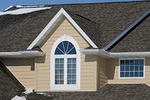 Gabled Asphalt Shingle Roof & Snow