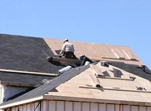 Roofering Contractors Installing Shingle Roof