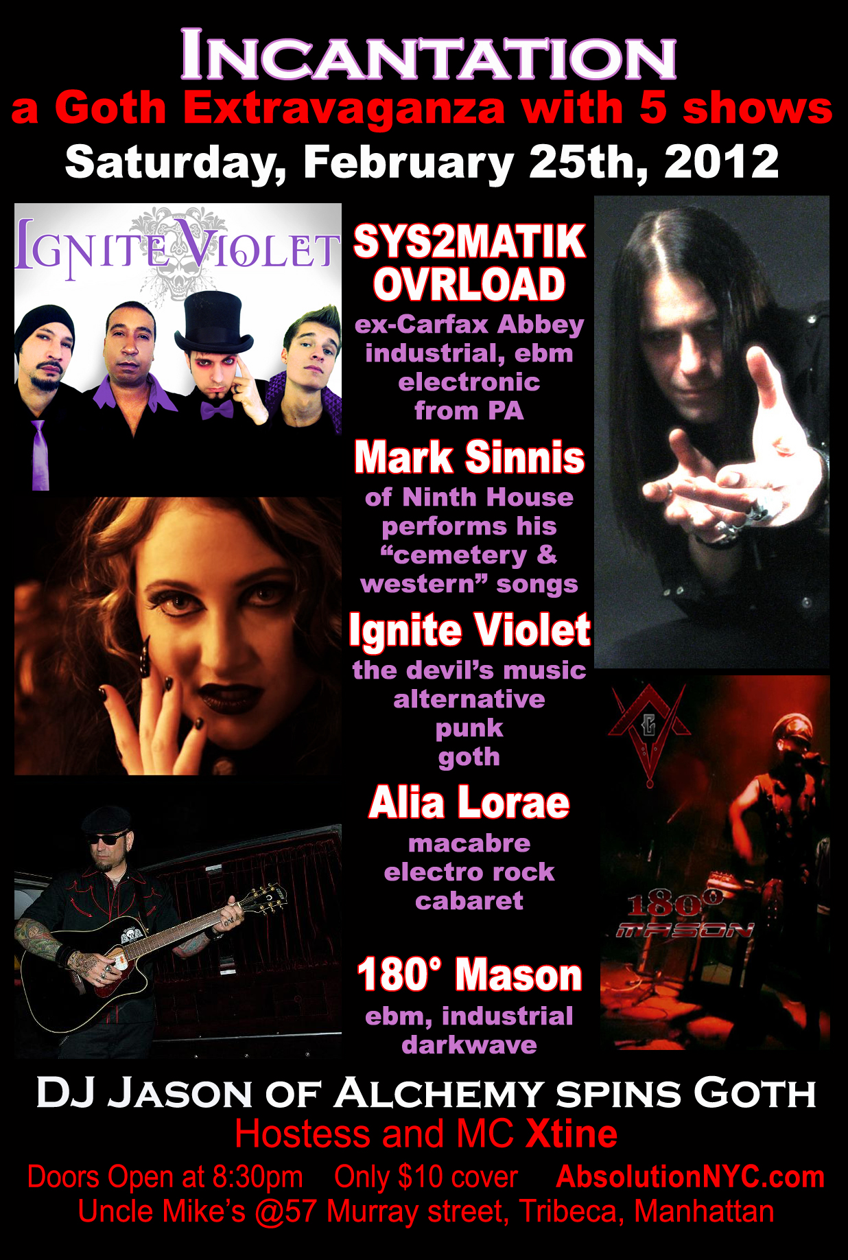 Absolution Presents Incantation A Goth Extravaganza With 5 Live