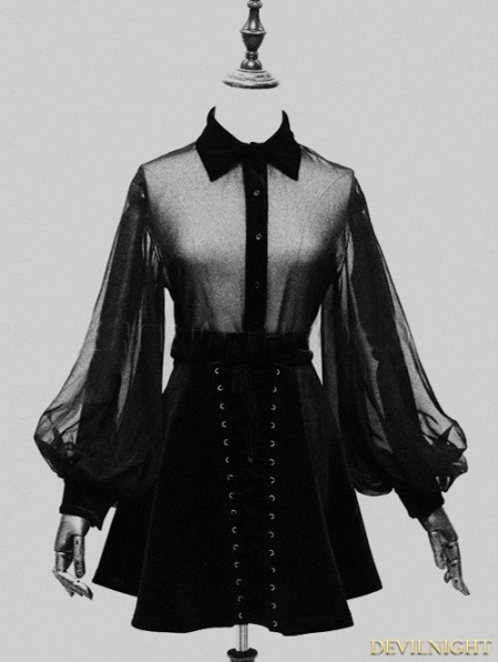 black-sexy-gothic-long-sleeves-blouse-for-women
