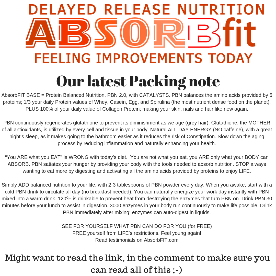 New Packing Note   AbsorbFit