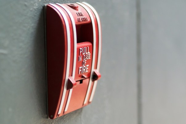 Fire Alarm near door fire