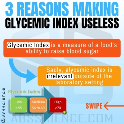 This is the picture showing the first reason why glycemic index to lose weight is useless