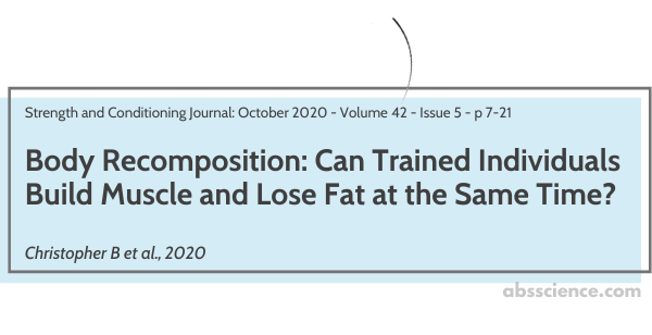 The study that looks at body recomposition in trained individuals