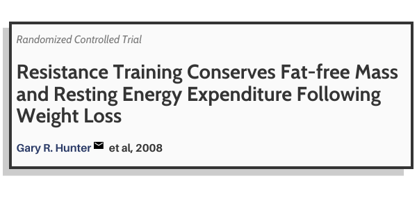 The study on resistance training preserving muscle mass when losing weight