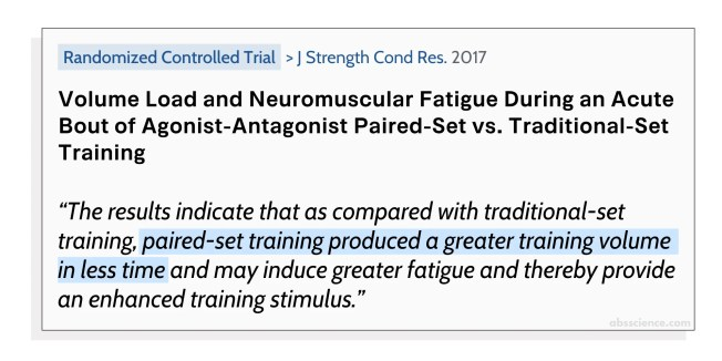 Volme Load and Neuromuscular Fatigue During an Acute Bout of Agonist-Antagonist Paired-Set vs. Traditional-Set Training