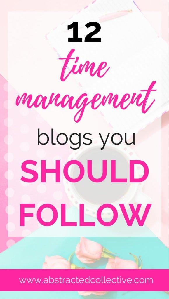 12 Time Management blogs you should follow