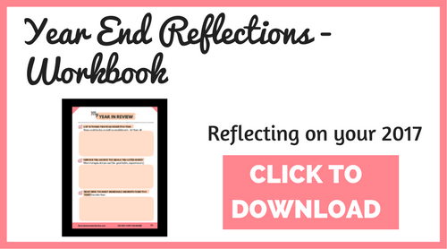 Year end self reflection workbook. Reflect on your 2017!