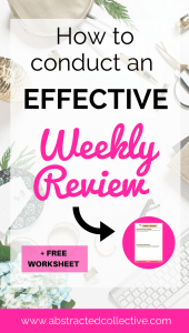 Want to be more productive? A highly effective weekly review process can help you do so. Check out my post right now! And download the weekly review printable with reflection questions and to-dos! Use this weekly review template to measure the progress of your goals.