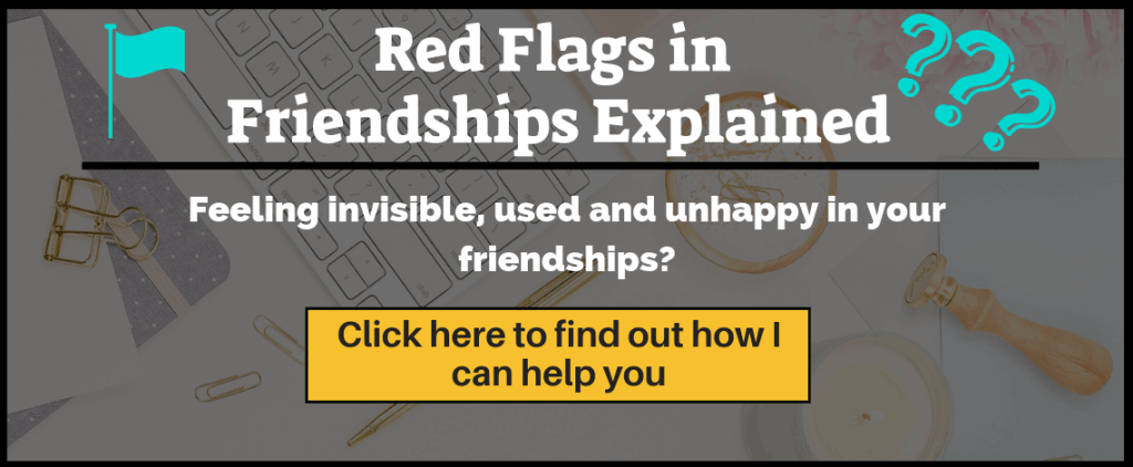 Red Flags in Friendships Explained Ebook. Feel happier in your friendships. No longer be blindsided by being suddenly cut off by a friend