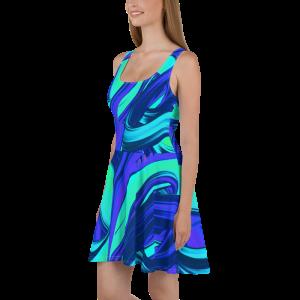 all over print skater dress white 5ff6f3722027d
