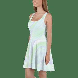 all over print skater dress white 5ff6f3bae9b57