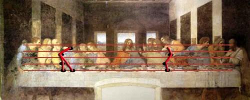 Pentagramma nel Cenacolo di Leonardo