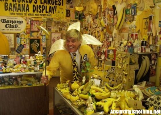 Ken bannister e la sua collezione di banane
