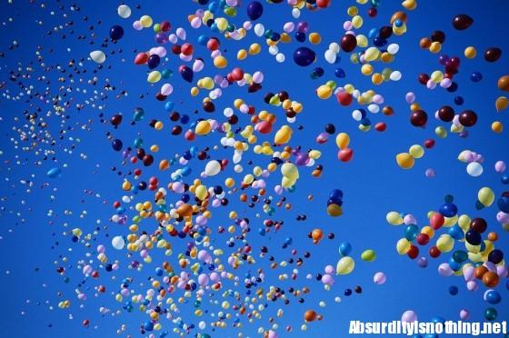 Palloncini in aria
