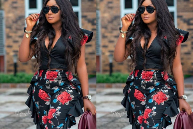 """""""My Super Woman"""" - Reactions As Ini Edo Shows Off Curves In Her Elegant African Outfit"""