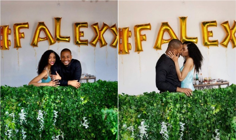 Alexx Ekubi and fiancee Fancy 1