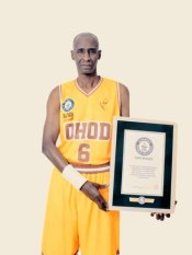 لاعب كرة سلة سعودي غينيس Saudi Guinness basketball player