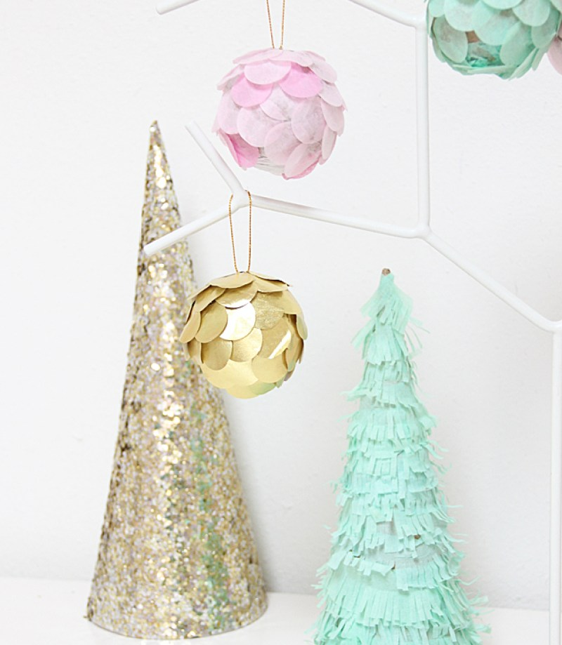 scalloped diy ornaments