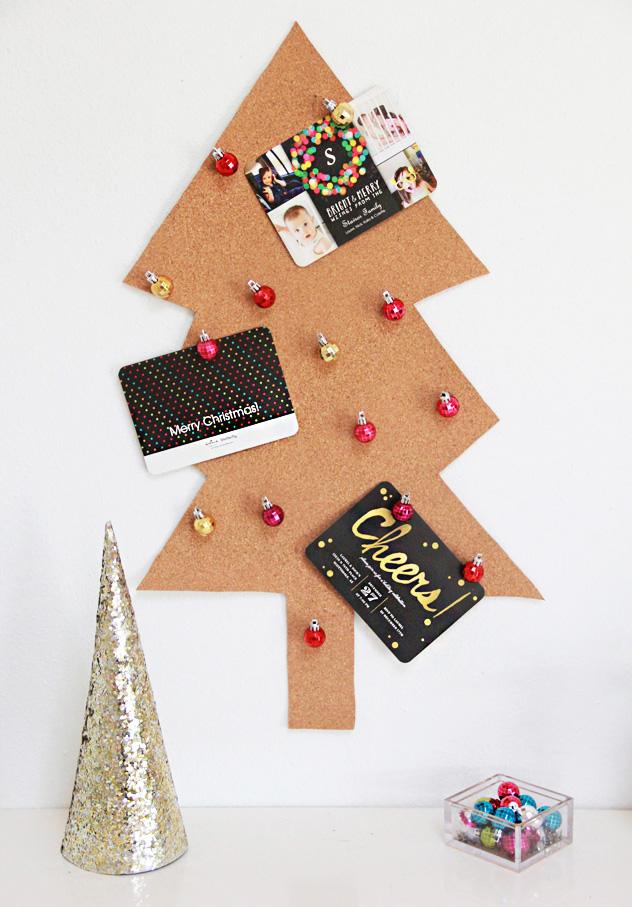 A Bubbly Lifediy Christmas Tree Card Holder Ornament Pushpins A