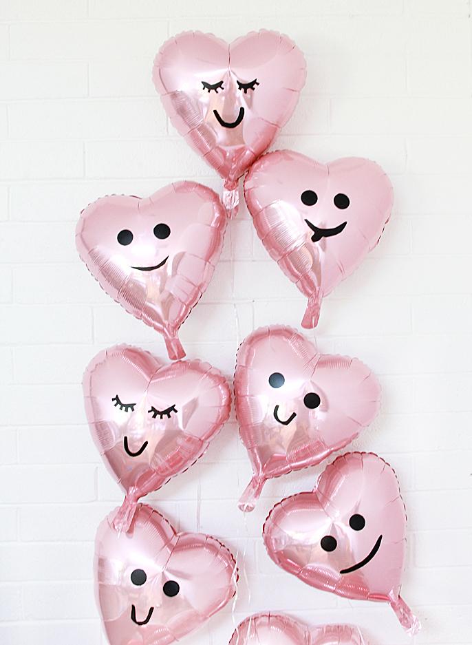 heart emoji balloons