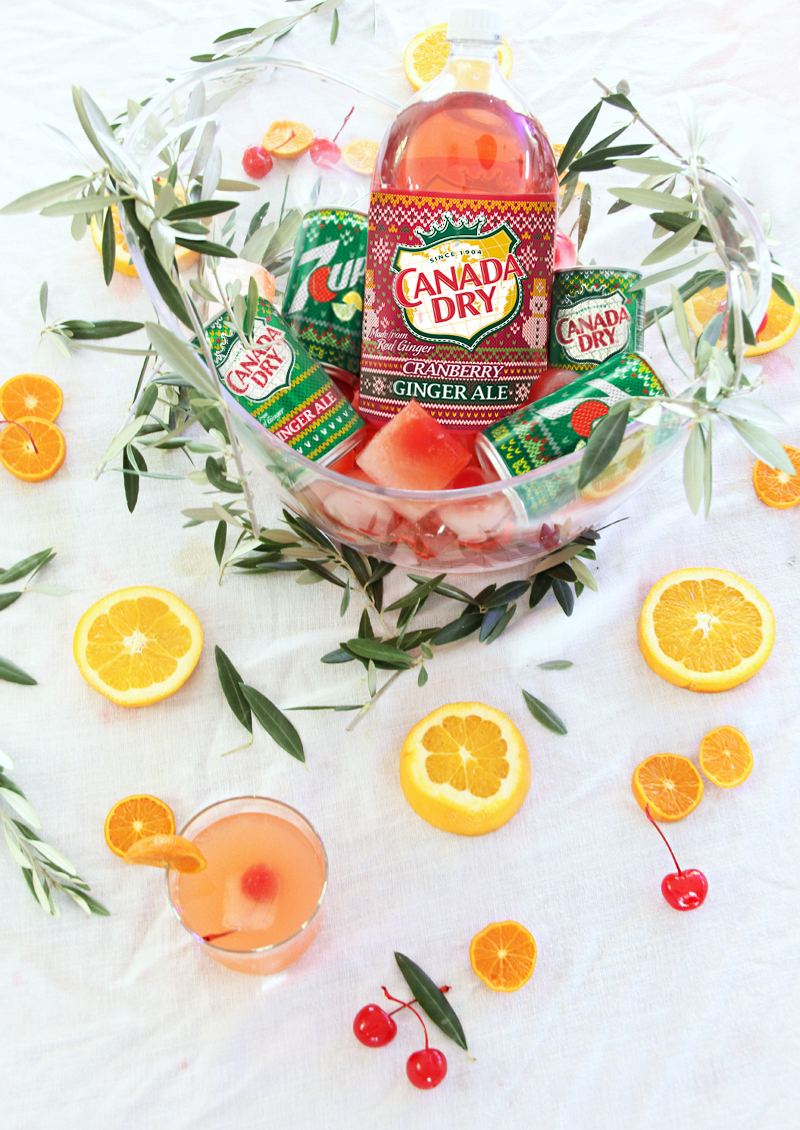 christmas party punch drink bowl